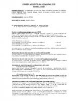 COMPTE RENDU MUNICIPAL du 6 novembre