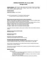 CONSEIL MUNICIPAL 12 juin 2020